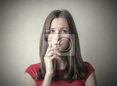 Doubtful girl