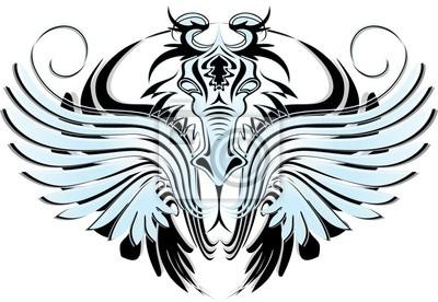 Drago Blu Tatuaggio-Blue Dragon Tattoo-Dragon Bleu Tatouage