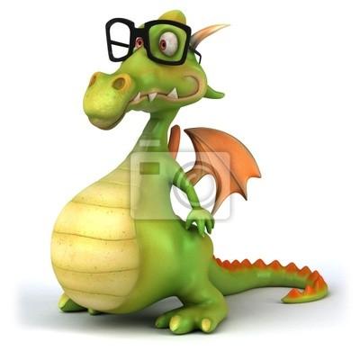 Dragon and glasses