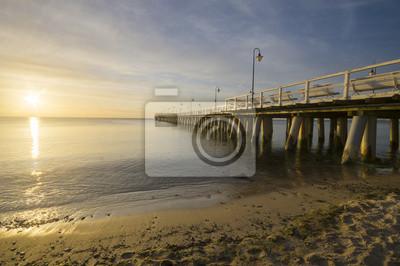 drewniane molo nad morzem bałtyckim,Gdynia Orłowo,Polska