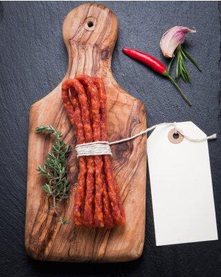 Wall mural Dried sausage