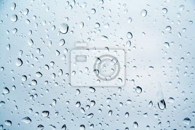 drops of water on a window pane