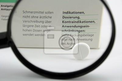 drug enlargement behind glass