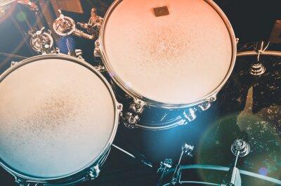 Wall mural drum set