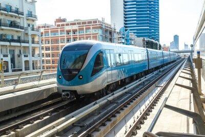 Wall mural Dubai metro railway