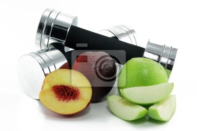 dumbbell with fruit