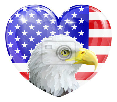 Eagle American love heart