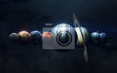 Earth, Mars, and others. Science fiction space wallpaper, incredibly beautiful planets of solar system. Elements of this image furnished by NASA