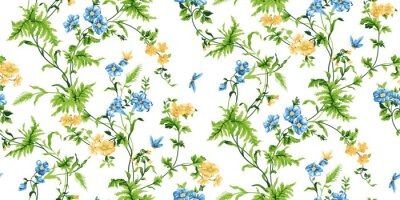Wall mural Echo Floral Seamless Pattern