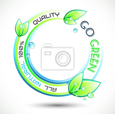 Ecology Green conceptual background