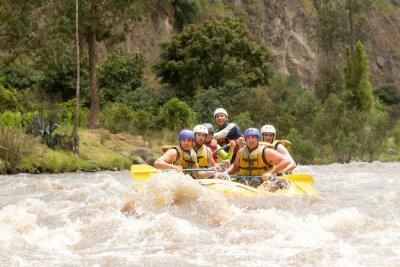 Wall mural Ecuador Whitewater River Rafting