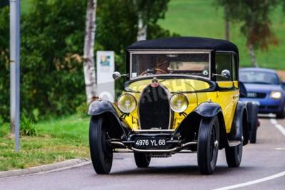 Wall mural Editorial,12 September 2015: France: XXXIIeme Festival Enthousiastes Bugatti in Molsheim. Vintage car.