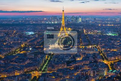 Wall mural Eiffel Tower in Paris , France