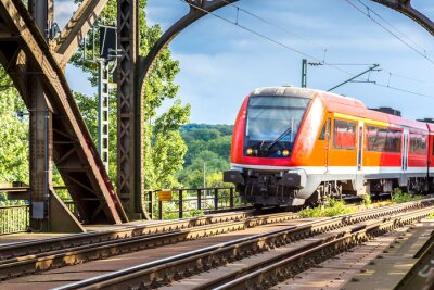 Wall mural Electric locomotive in Frankfurt