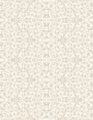Wall mural Elegant stylish abstract floral wallpaper. Seamless pattern