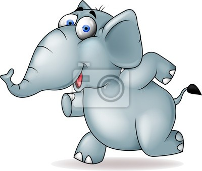 Wall mural Elephant running