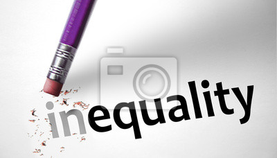 Eraser changing the word inequality for equality