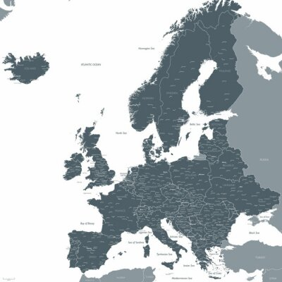 Wall mural Europe map vector