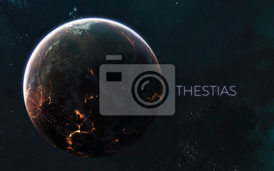Exoplanet in deep space. Awesome science fiction render. Elements of this image furnished by NASA