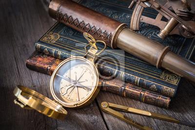 Exploration and nautical theme grunge background