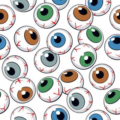 Wall mural Eyeballs seamless background