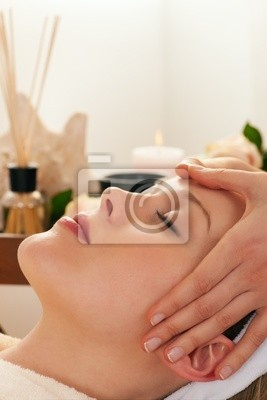 Facial massage with Spa Accessories