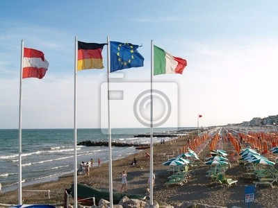 facing the flags