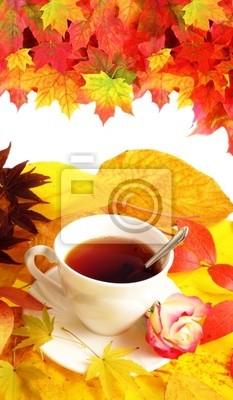 Wall mural fall cup of tea