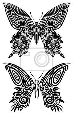 Farfalla Tatuaggio-Butterfly Tattoo-Vector