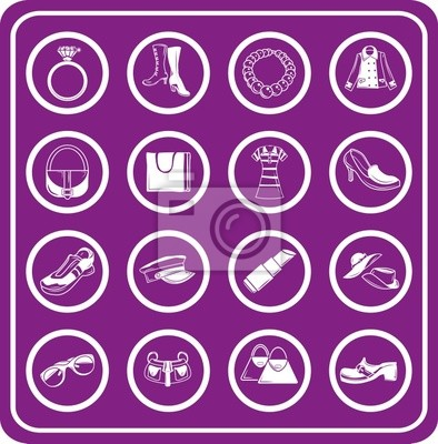fashion, clothes and accessory icons