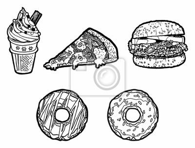 Wall mural Fast Food