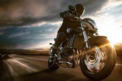 Wall mural Fast Motorbike