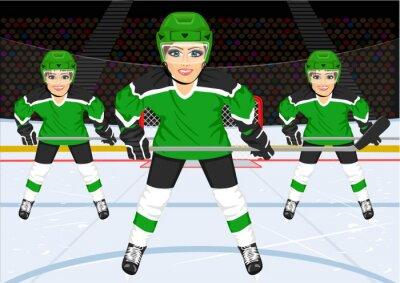 Wall mural female ice hockey team