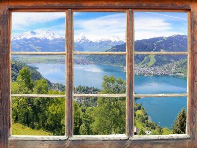 Wall mural Fensterblick Zell am See