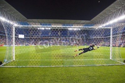 Wall mural Fernando Pacheco of RM in action at the Spanish Cup match between UE Cornella and Real Madrid, final score 1 - 4, on October 29, 2014, in Cornella, Barcelona, Spain