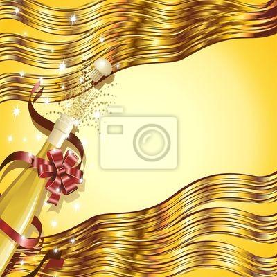 Festa Capodanno Bottiglia Spumante-Party Bottle Background