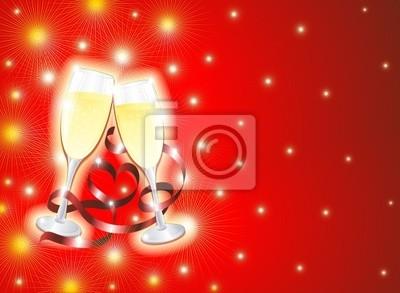 Festa e Bicchieri di Champagne-Champagne Party-2-Vector