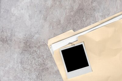 File Folder with documents and Blank