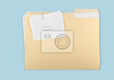 File Folder with Documents and Blank photo