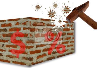 Wall mural Finance