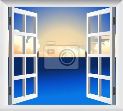 Finestra sul Mare-Window on Sea-Vector