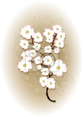 Fiori di Pesco-Primavera-Peach Blossoms-Springtime-Vector