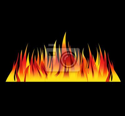 fire background flames vector illustration