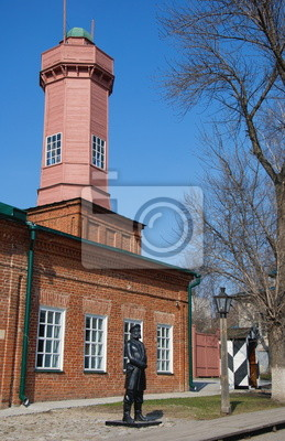 Firewatch Tower in  historic city of Ulyanovsk in Russia
