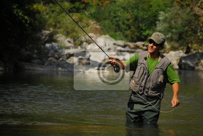 Wall mural fishing