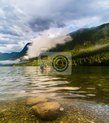 Wall mural fishing in Lake