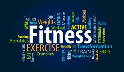 Wall mural Fitness
