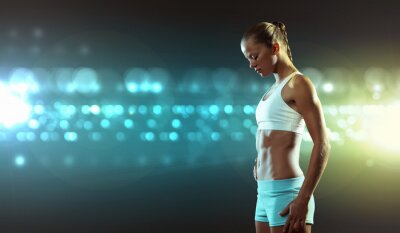 Wall mural Fitness woman
