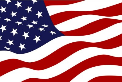 Wall mural Flag of America