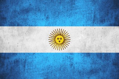 Wall mural flag of Argentina